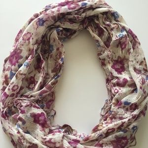 Maurice's Scarf with Floral and Fringe